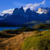 Cuernos in Late Afternoon Light, Torres Del Paine National Park, Chile Fotografisk trykk av Wes Walker