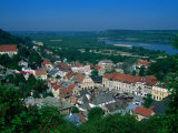 Town Buildings and Vistula Valley from Three Crosses Mountain, Kazimierz Dolny, Lubelskie, Poland Photographic Print by Krzysztof Dydynski