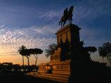 Statue of Giuseppe Garibaldi on Piazza Garibaldi at Sunset, Gianicolo (Janiculum Hill), Rome, Italy Photographic Print by Martin Moos