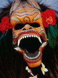 Demon Mask Used During Morning Barong Performance in Batubulan, Batubulan, Indonesia Photographic Print by Adams Gregory