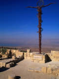 The Serpent and Cross Monument on the Summit of Mt. Nebo, Mt. Nebo, Jordan Photographic Print by Patrick Syder