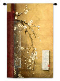 Oriental Blossoms III Wall Tapestry by Don Li-Leger