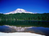 Mt. Rainier from Reflection Lake, Mt. Rainier National Park, USA Photographic Print by Brent Winebrenner