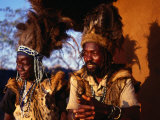Traditional Healers, Great Zimbabwe, Zimbabwe Photographie par Peter Ptschelinzew