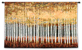 Golden Aspens Wall Tapestry by Robert Holman