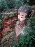 Grand Buddha, Carved into Cliff Face Leshan, Yunnan, China Photographic Print by John Borthwick