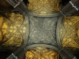 Vaulted Ceiling of Santa Maria De La Sede Cathedral, Sevilla, Andalucia, Spain Photographic Print by Mark Daffey