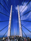 Cycling Day on Oresund Bridge, Copenhagen, Denmark Photographic Print by Anders Blomqvist