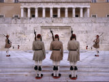 Changing of Evzone Guards at Greek Parliament Building, Athens, Attica, Greece Photographic Print by Diana Mayfield