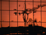 Reflection of Crane on Window, Calgary, Canada Photographic Print by Rick Rudnicki