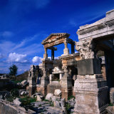 The Fountain of Emperor Trajan, Ephesus, Izmir, Turkey Photographic Print by Wes Walker
