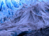 Day Hikers Near the Terminus of the Exit Glacier, Kenai Fjords National Park, USA Photographic Print by Brent Winebrenner