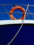 Rope and Life Ring on Boat, Crete, Greece Photographic Print by Diana Mayfield