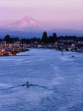 Mt. Hood and Columbia River from Jantzen Beach, Portland, USA Photographic Print by Ryan Fox