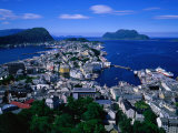 South of City from Mt. Aksla, Alesund, Norway Photographic Print by Anders Blomqvist