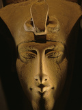 Pharaohs of the Sun, Sandstone Image of Akhenaten at Karnak, Egypt Photographic Print by Kenneth Garrett
