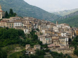 Mountain Town, Anversa di Abruzzi, Abruzzo, Italy Photographic Print by Walter Bibikow