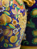 Close-up of Local Ceramic Pots, Positano, Amalfi, Campania, Italy Photographic Print by Walter Bibikow