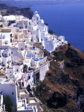 White Buildings in Oia Santorini, Athens, Greece Impressão fotográfica por Bill Bachmann