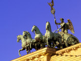 Brandenburg Gate Quadriga, Unter Den Linden, Berlin, Germany Photographic Print by Walter Bibikow