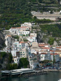 Town View with Harbor, Amalfi, Amalfi Coast, Campania, Italy Photographic Print by Walter Bibikow