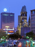 Kaiser Wilhelm Memorial Church, Kurfurstendamm Area, Berlin, Germany Photographic Print by Walter Bibikow