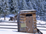 Outhouse at Elkhorn Ghost Town, Montana, USA Photographic Print by Chuck Haney