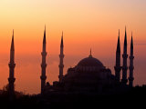 Sunrise Over the Blue Mosque, Istanbul, Turkey Photographic Print by Joe Restuccia III