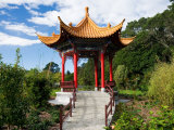 Pagoda in Kunming Garden, Pukekura Park, New Plymouth, Taranaki, North Island, New Zealand Photographic Print by David Wall