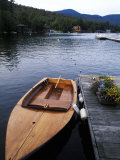 Boating at Whiteface Marina in the Adirondack Mountains, Lake Placid, New York, USA Photographic Print by Bill Bachmann