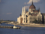 Parliament and Danube, Budapest, Hungary Photographic Print by Dave Bartruff