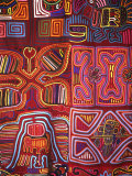 Native Indian Artwork, Mola, Panama Fotodruck von Bill Bachmann