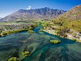 Lake Wakatipu, Kawarau River, and The Remarkables, Queenstown, South Island, New Zealand Photographic Print by David Wall