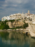 Town View from Punta San Francesco, Vieste, Promontorio del Gargano, Puglia, Italy Photographic Print by Walter Bibikow