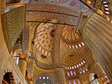 Interior of the Blue Mosque, Istanbul, Turkey Fotografisk trykk av Joe Restuccia III