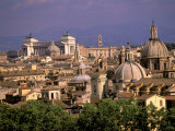 City View and Monumento Vittorio Emanuele Il, The Vatican, Rome, Italy Photographic Print by Walter Bibikow