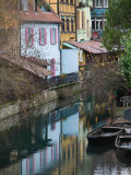 Half Timbered Houses of Petite Venise Area, Colmar, Haut Rhin, Alsace, France Fotoprint van Walter Bibikow