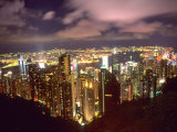 Hong Kong Skyline from Victoria Mountain, China Photographic Print by Bill Bachmann