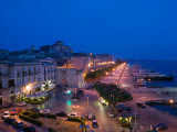 Evening View from the Grand Hotel, Ortygia Island, Syracuse, Sicily, Italy Photographic Print by Walter Bibikow