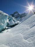 Le Montenvers, Winter Mer de Glace Glacier Ice Cave, Mont Blanc, France Photographic Print by Walter Bibikow