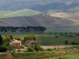 Farmhouse off Route S 122, Caltanissetta, Sicily, Italy Photographic Print by Walter Bibikow