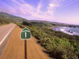 Bill Bachmann - Pacific Coast Highway, California Route 1 near Big Sur, California, USA Fotografická reprodukce