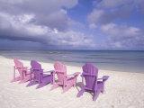 Beach Chairs and Ocean, U.S. Virgin Islands Photographie par Bill Bachmann