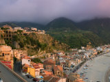 View of La Chinalea, Fisherman's District, Scilla, Calabria, Italy Photographic Print by Walter Bibikow