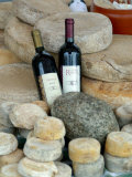 Wine and Cheese at Open-Air Market, Lake Maggiore, Arona, Italy Photographic Print by Lisa S. Engelbrecht