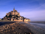 Mont St. Michel Island Fortress, Normandy, France Photographic Print by Bill Bachmann