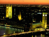 Big Ben and the Houses of Parliament at Dusk, London, England Photographic Print by Walter Bibikow