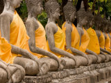 Buddha at Ayuthaya, Siam, Thailand Photographic Print by Gavriel Jecan