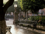 Early Morning, El Jardin, San Miguel de Allende, Mexico Photographic Print by Inger Hogstrom