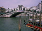 Grand Canal and Rialto Bridge, Venice, Italy Photographic Print by Bill Bachmann